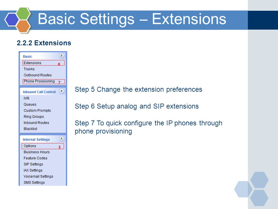Basic Settings – Extensions
