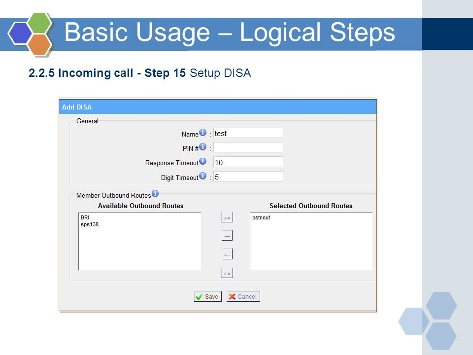 Basic Usage – Logical Steps