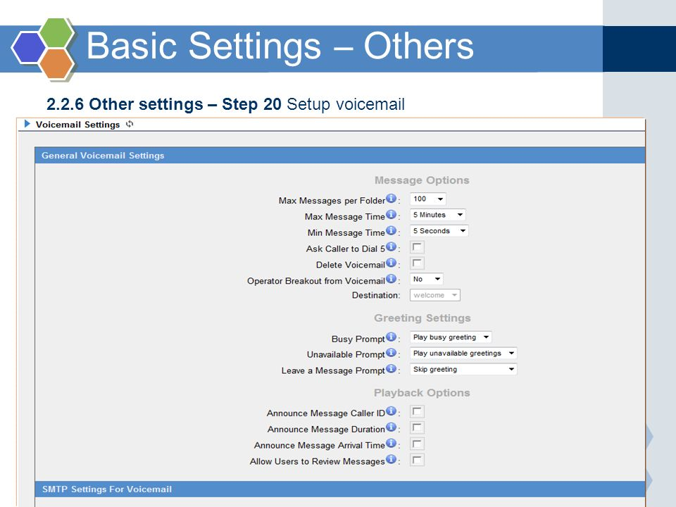 Basic Settings – Others