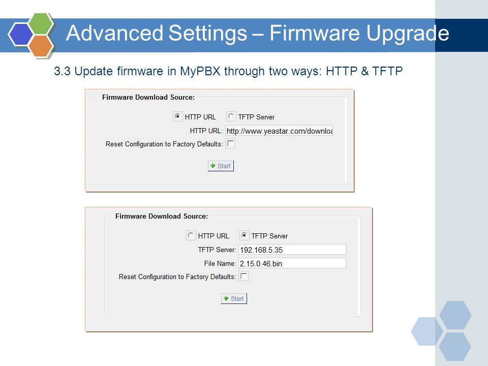 Advanced Settings – Firmware Upgrade