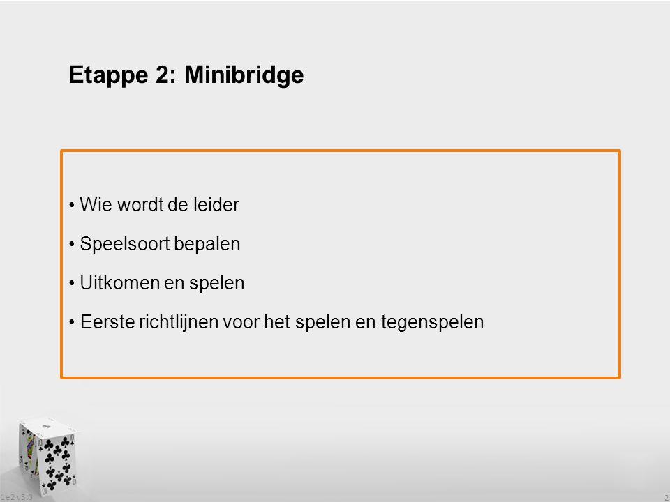 Etappe 2: Minibridge Wie wordt de leider Speelsoort bepalen