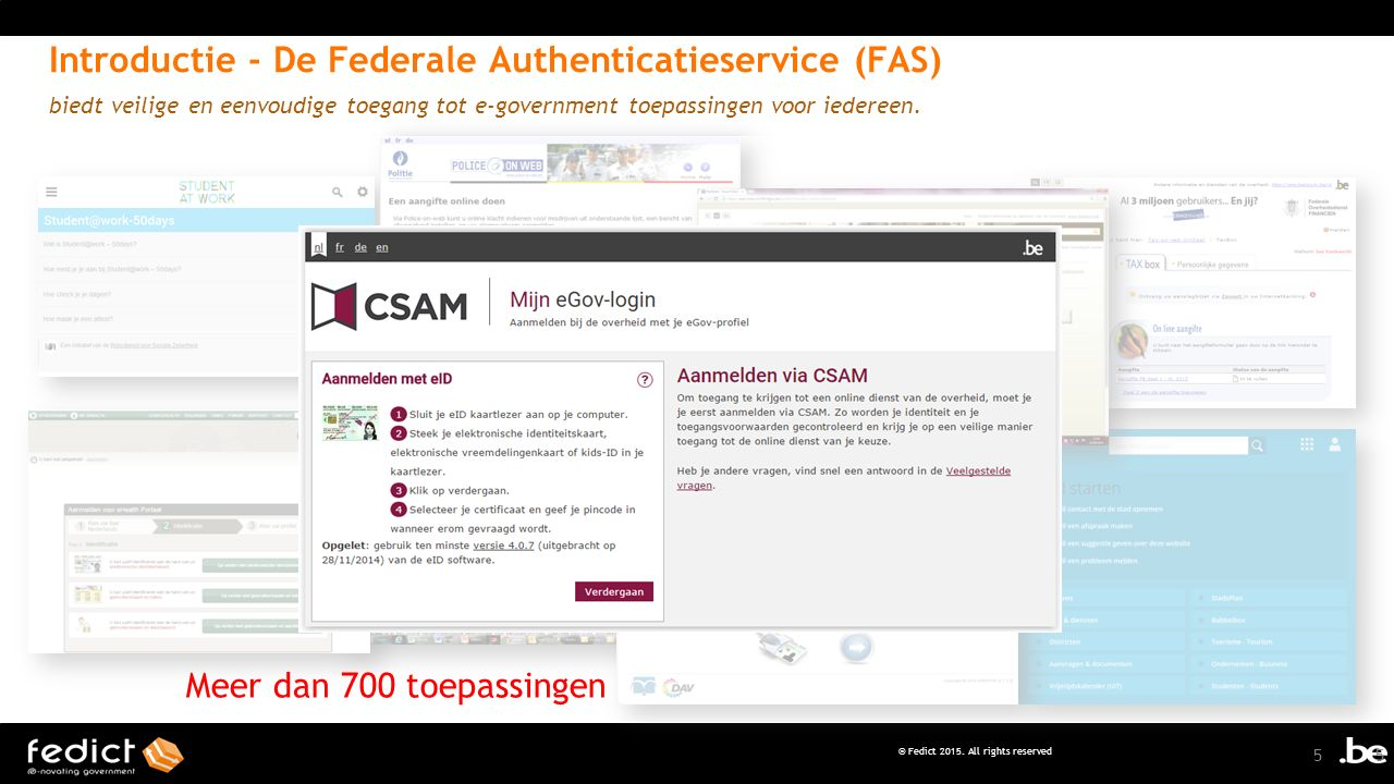 Introductie - De Federale Authenticatieservice (FAS)