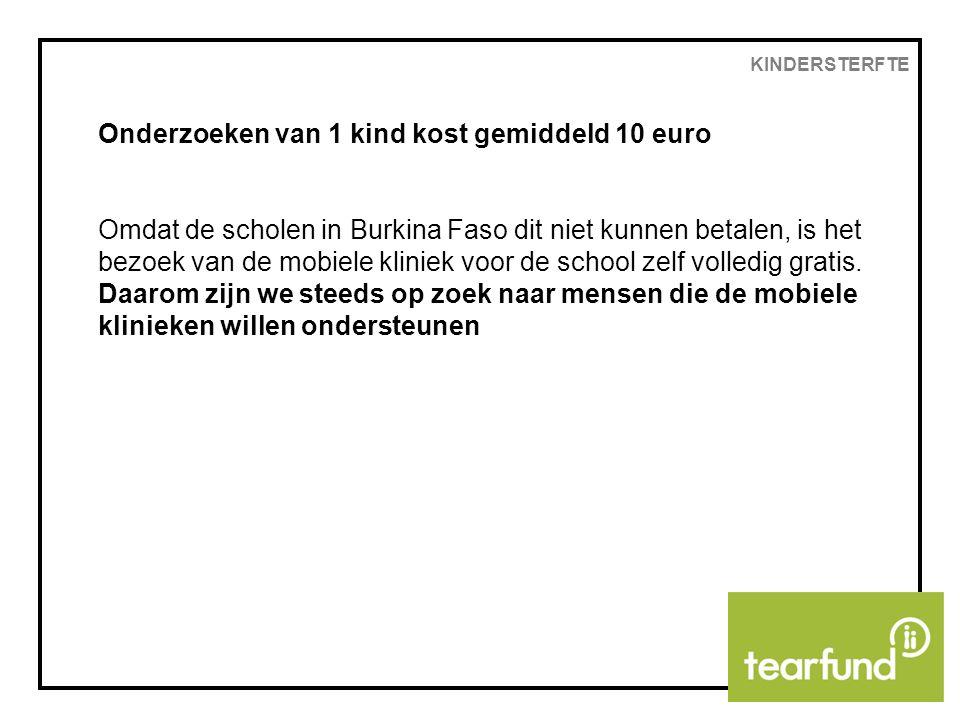 Onderzoeken van 1 kind kost gemiddeld 10 euro