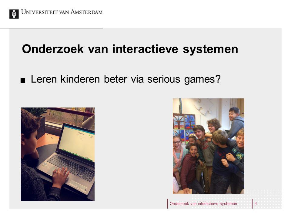 Onderzoek van interactieve systemen