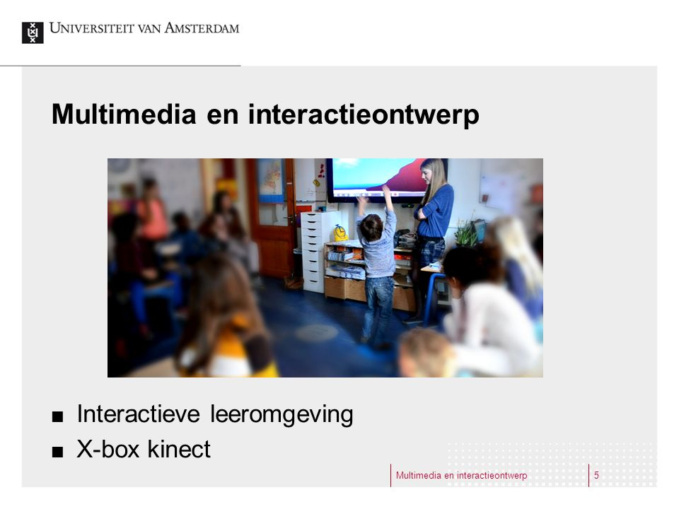 Multimedia en interactieontwerp