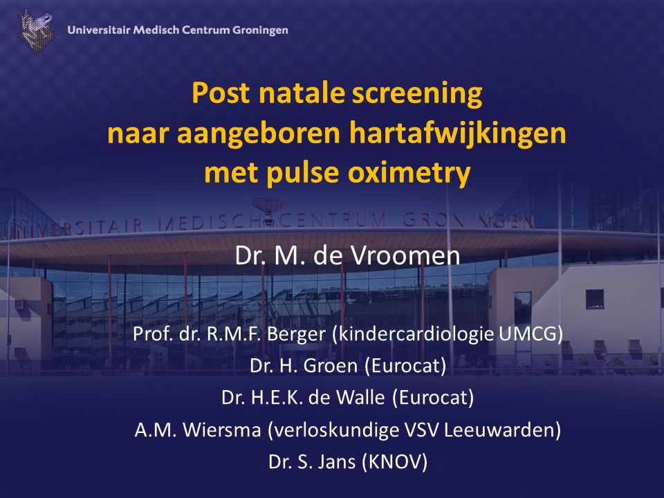 Post natale screening naar aangeboren hartafwijkingen met pulse oximetry