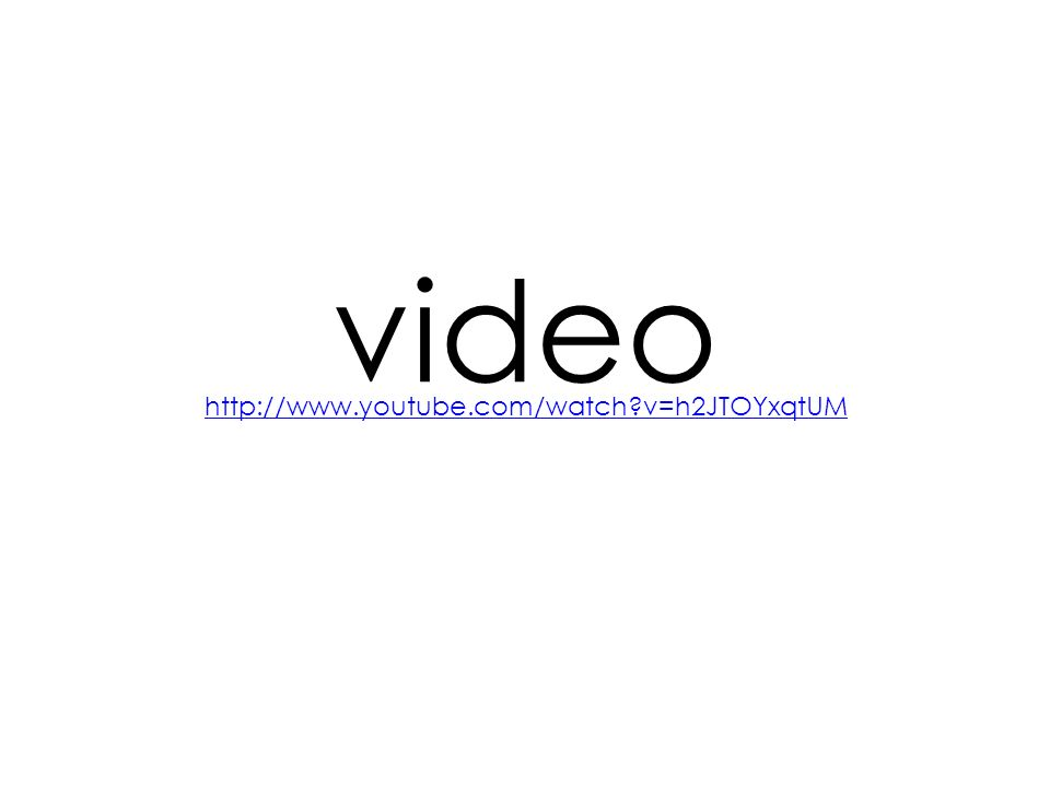 video http://www.youtube.com/watch v=h2JTOYxqtUM