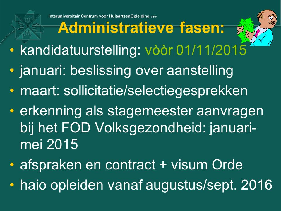 Administratieve fasen: