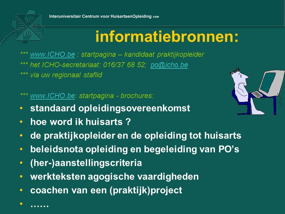 informatiebronnen: standaard opleidingsovereenkomst