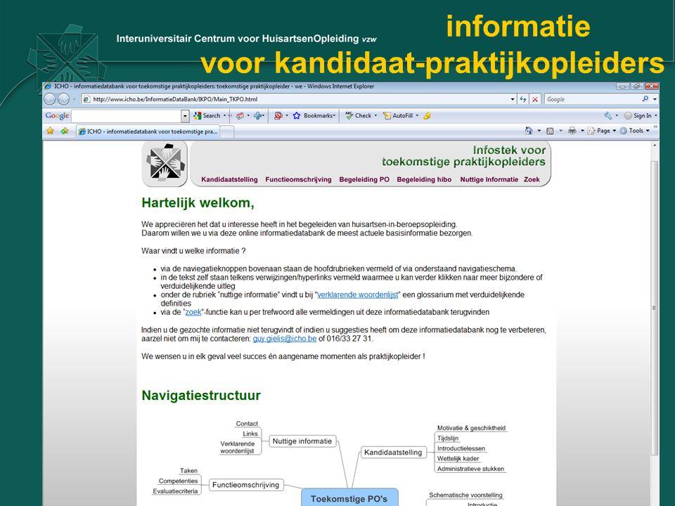 informatie voor kandidaat-praktijkopleiders
