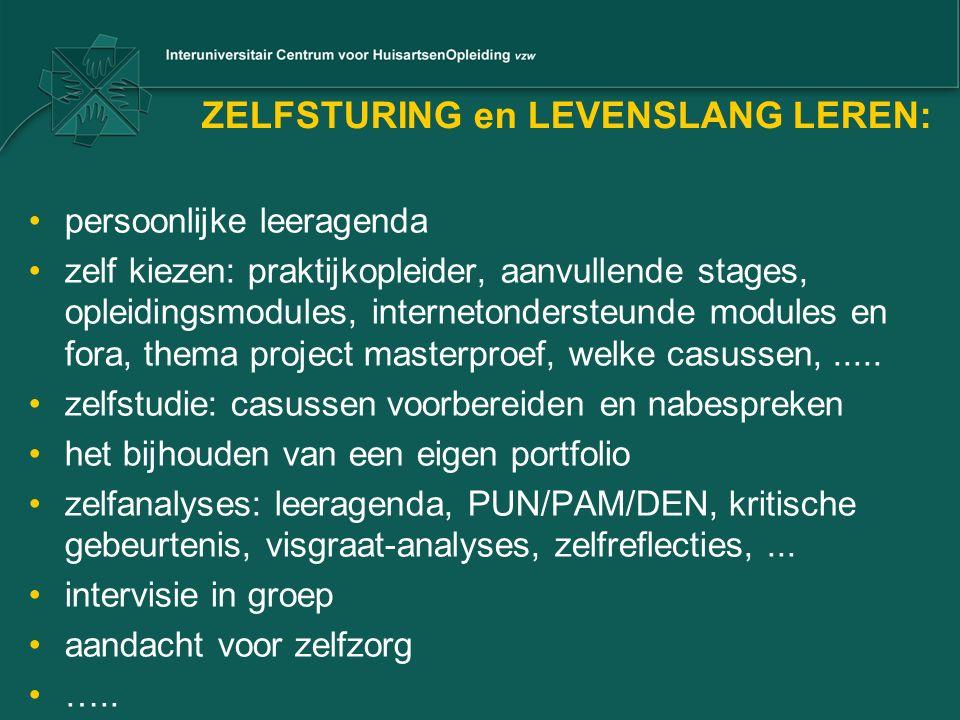 ZELFSTURING en LEVENSLANG LEREN: