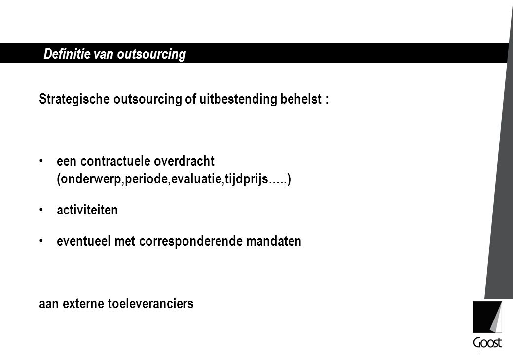 Definitie van outsourcing