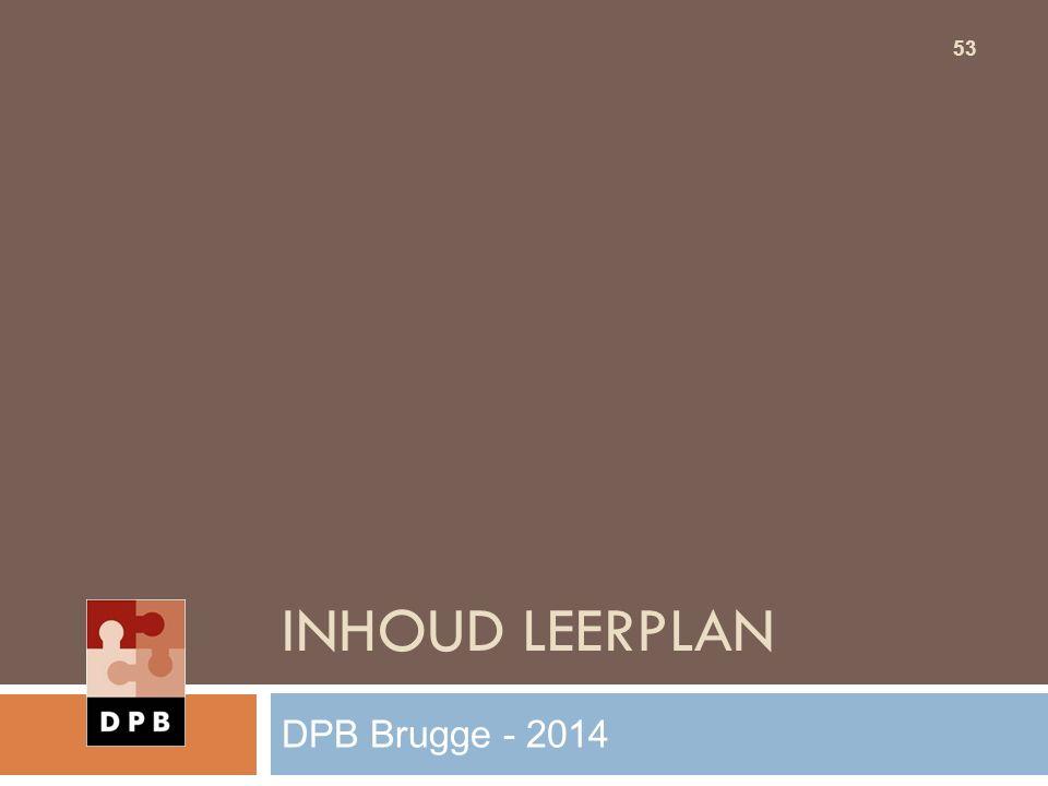 Inhoud leerplan DPB Brugge - 2014
