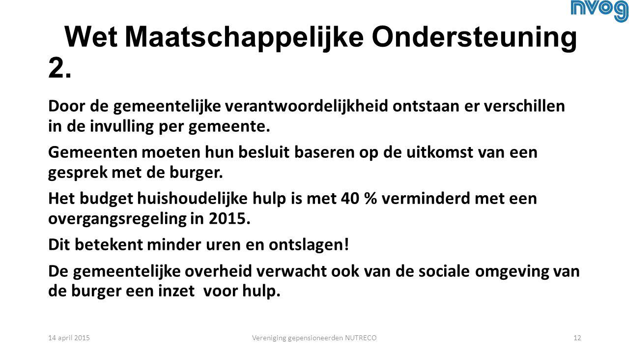 Wet Maatschappelijke Ondersteuning 2.