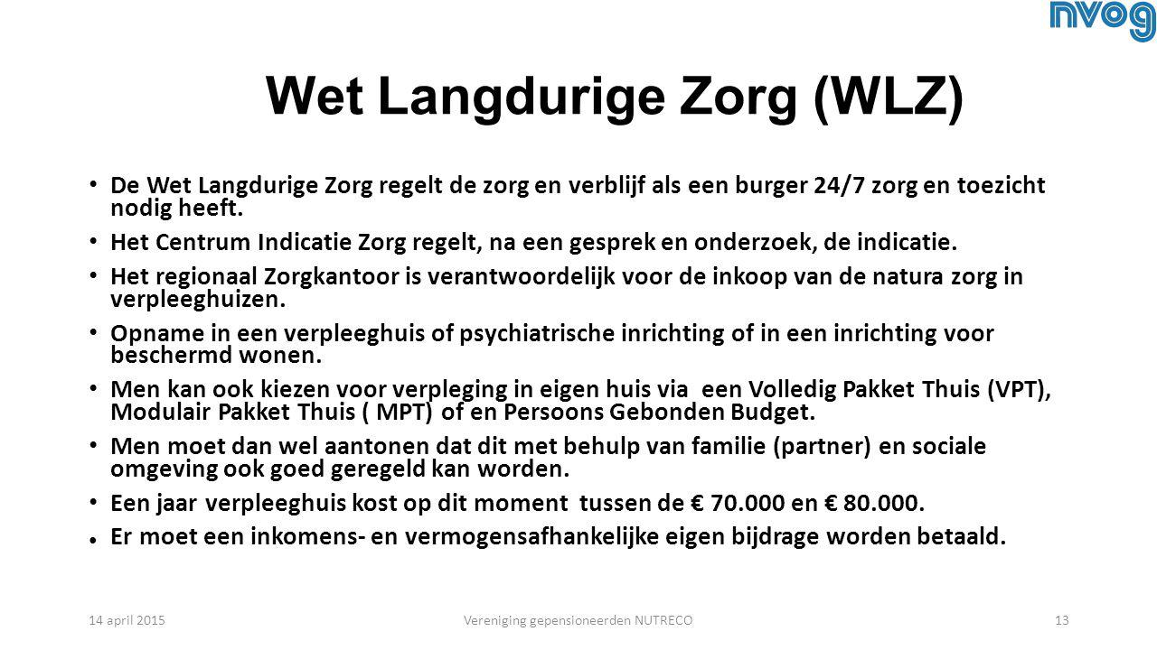 Wet Langdurige Zorg (WLZ)