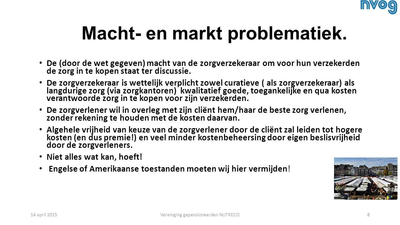 Macht- en markt problematiek.