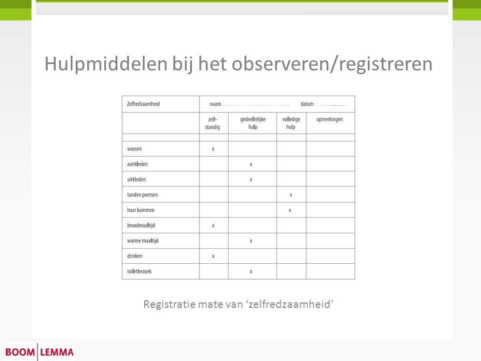 Hulpmiddelen bij het observeren/registreren
