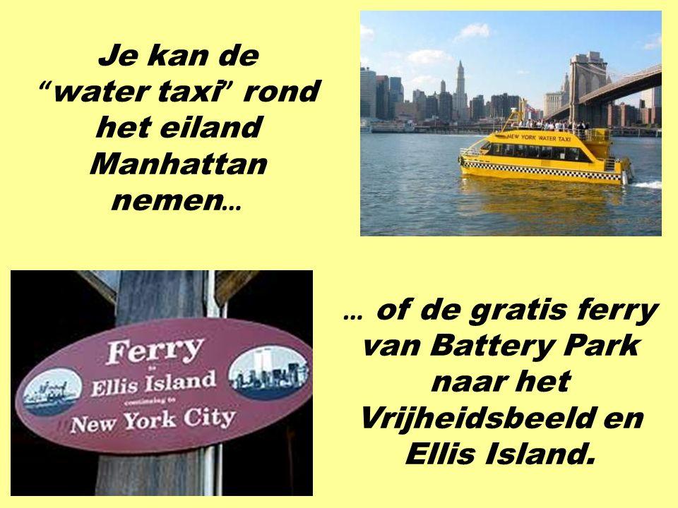 water taxi rond het eiland Manhattan nemen…
