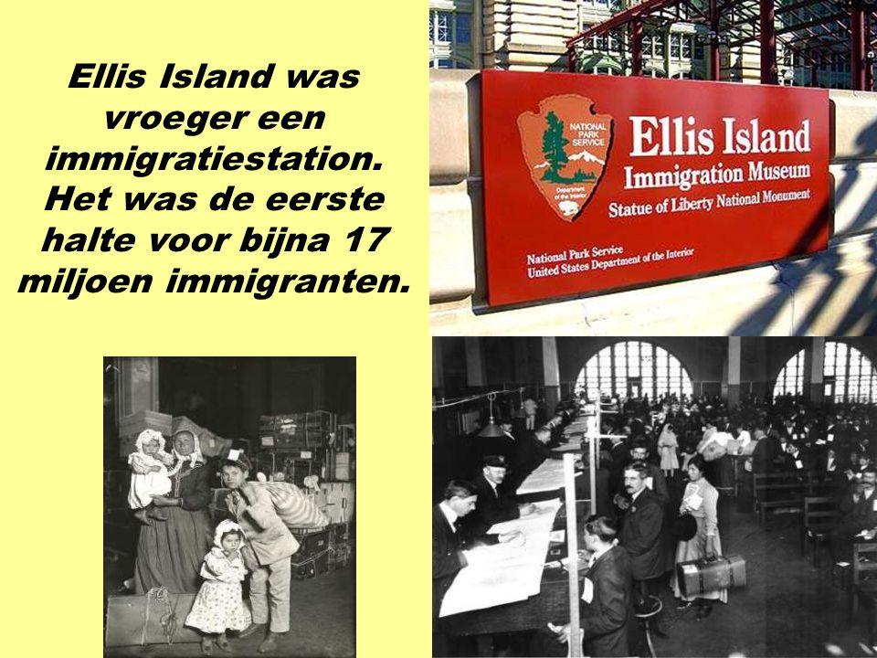 vroeger een immigratiestation. Het was de eerste