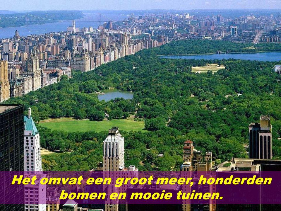 Het omvat een groot meer, honderden bomen en mooie tuinen.