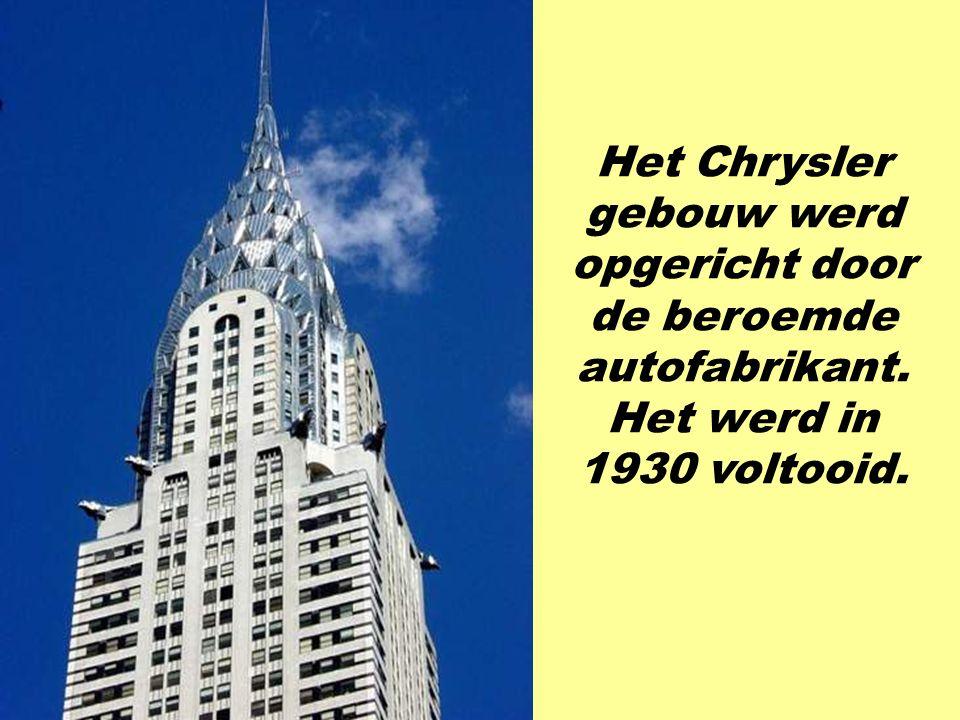 Het Chrysler gebouw werd opgericht door de beroemde autofabrikant