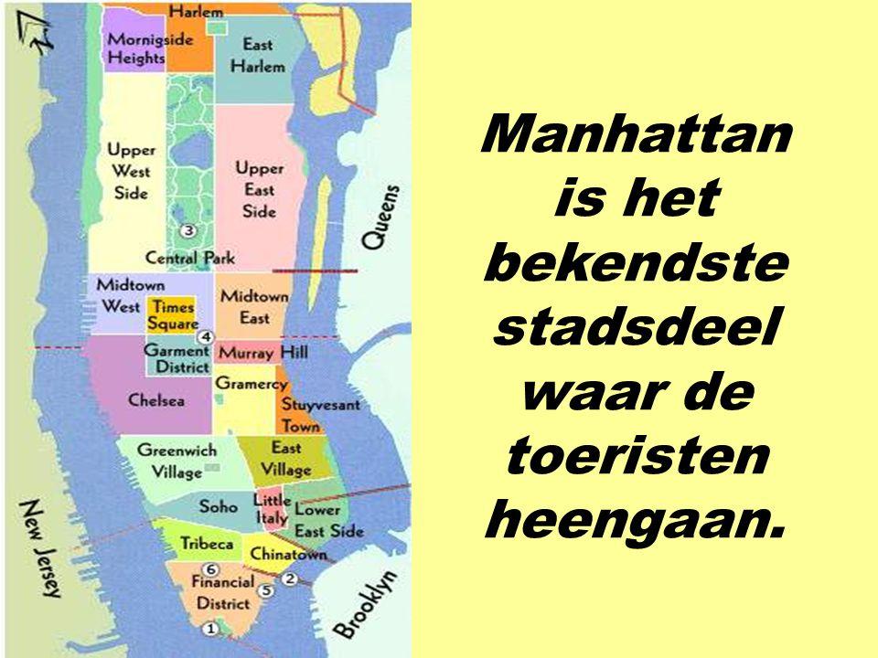 Manhattan is het bekendste stadsdeel waar de toeristen heengaan.