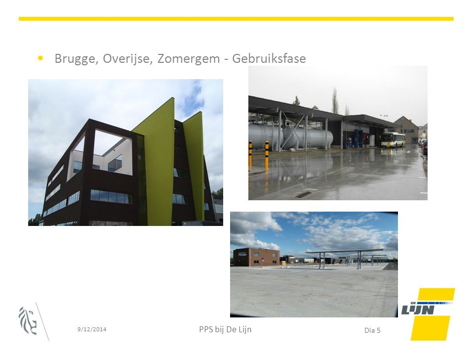 Brugge, Overijse, Zomergem - Gebruiksfase