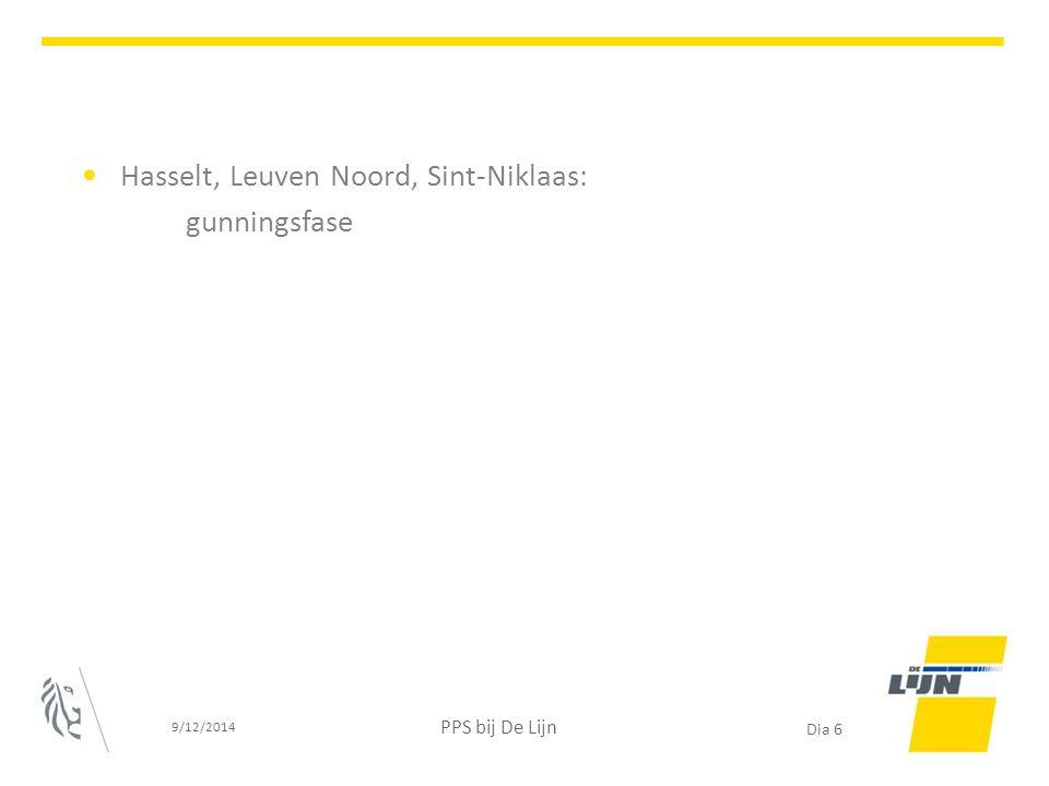 Hasselt, Leuven Noord, Sint-Niklaas: gunningsfase