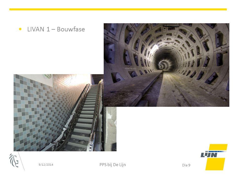 LIVAN 1 – Bouwfase 9/12/2014 PPS bij De Lijn