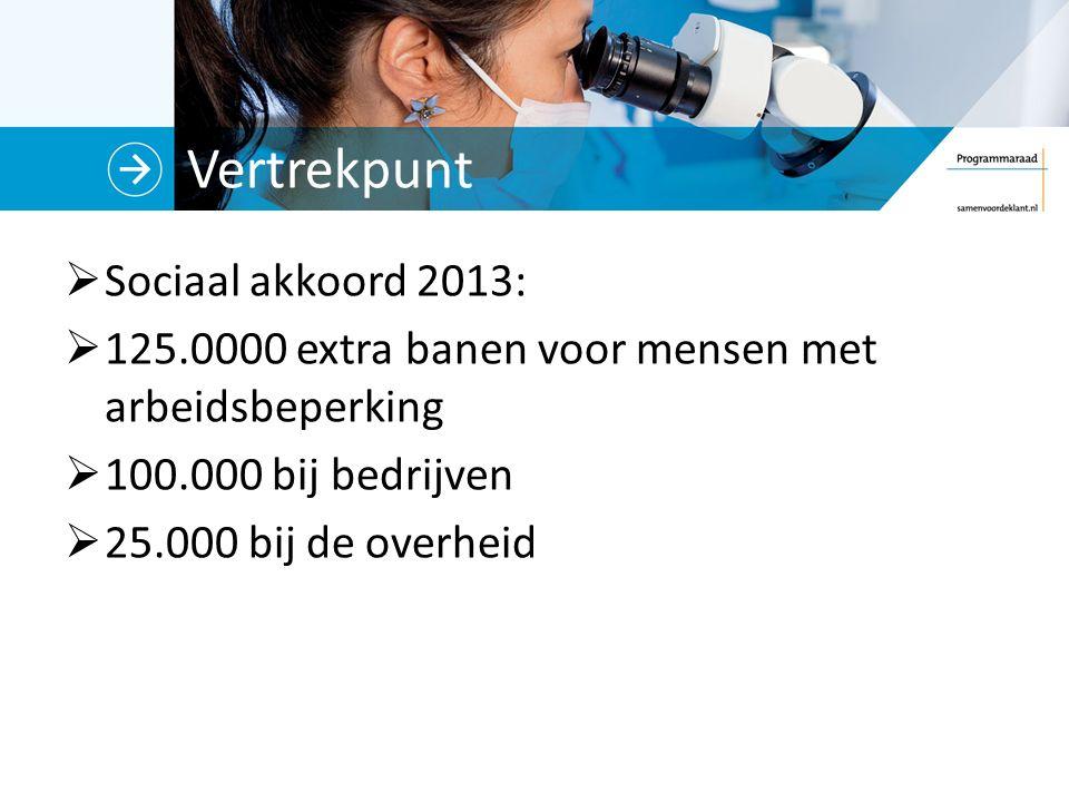 Vertrekpunt Sociaal akkoord 2013: