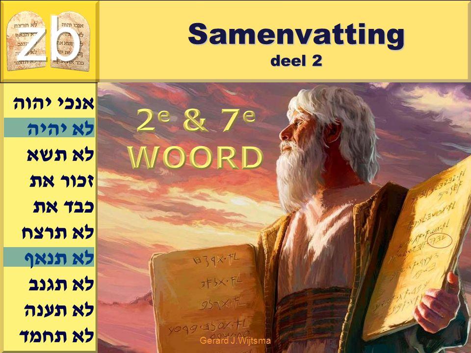 zb Samenvatting deel 2 2e & 7e WOORD Gerard J.Wijtsma