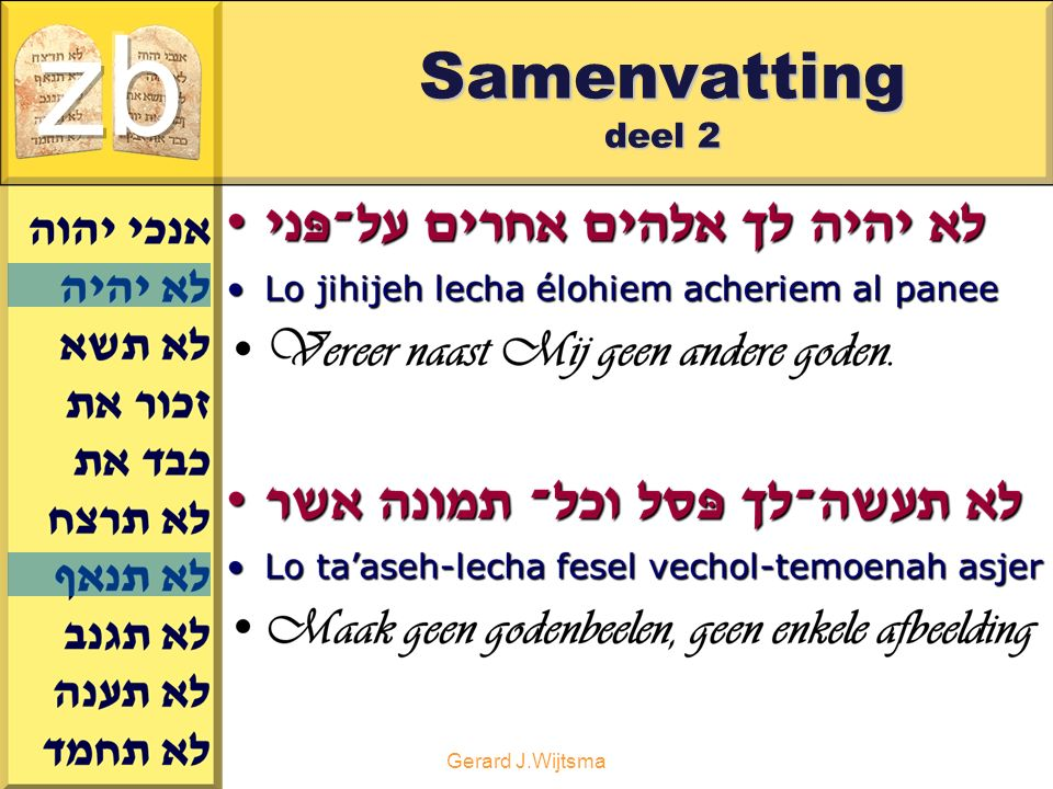 zb Samenvatting deel 2 Gerard J.Wijtsma
