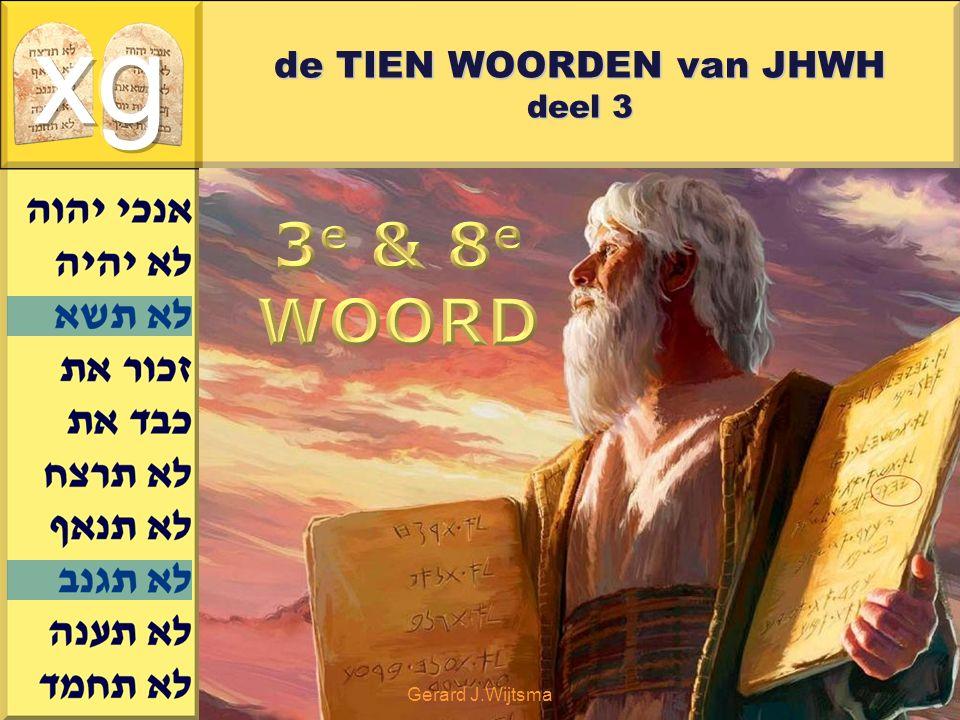 de TIEN WOORDEN van JHWH deel 3