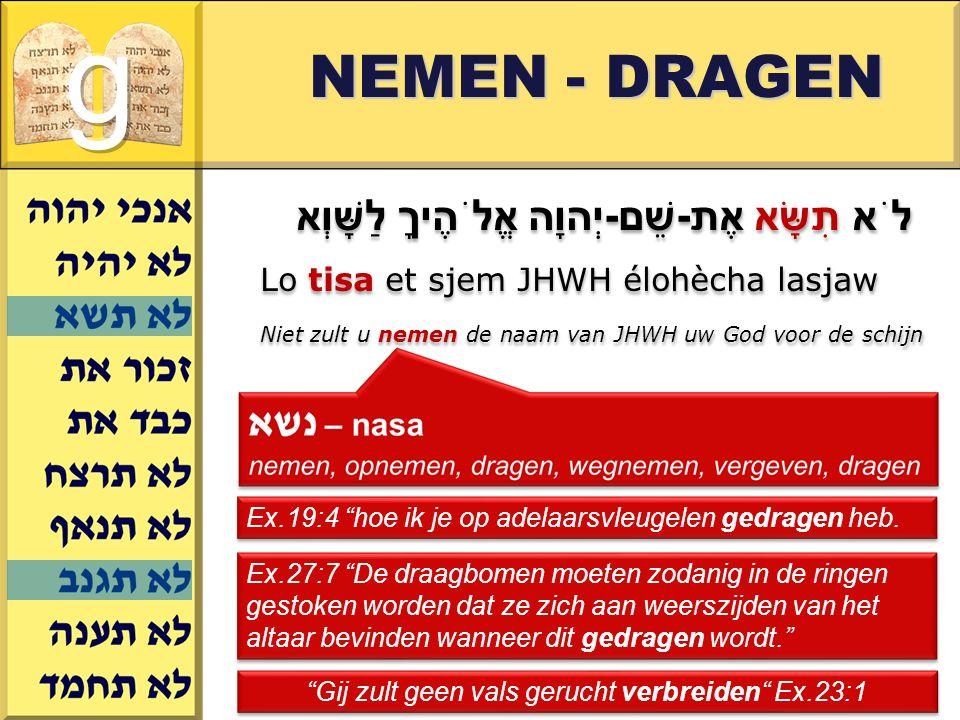 Gij zult geen vals gerucht verbreiden Ex.23:1