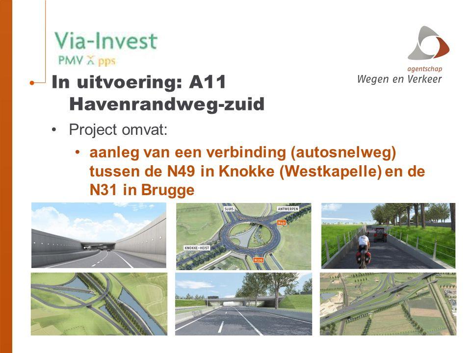 In uitvoering: A11 Havenrandweg-zuid