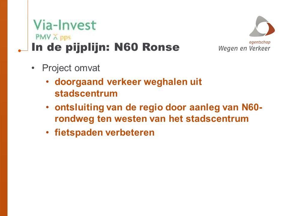 In de pijplijn: N60 Ronse Project omvat