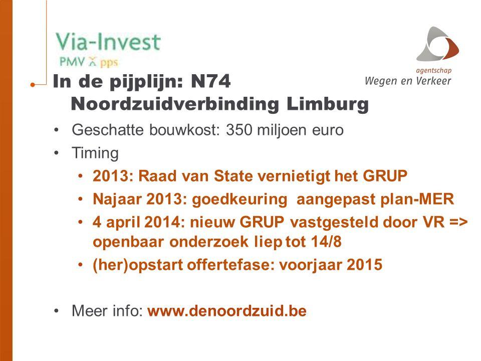 In de pijplijn: N74 Noordzuidverbinding Limburg