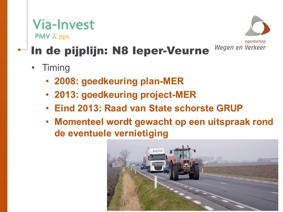 In de pijplijn: N8 Ieper-Veurne