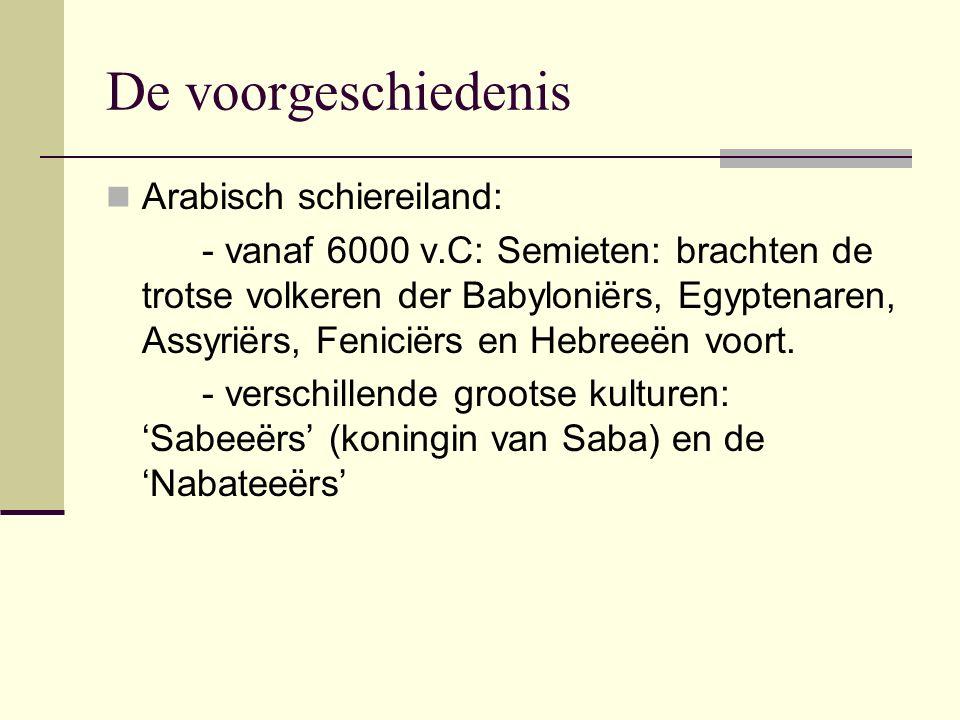 De voorgeschiedenis Arabisch schiereiland: