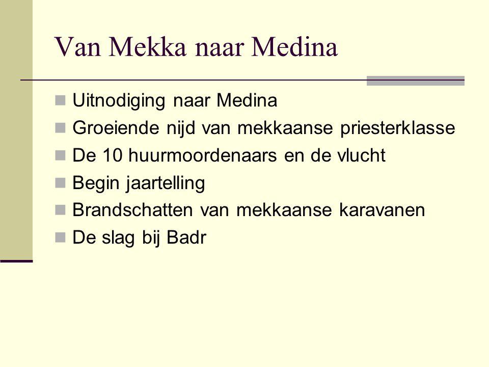 Van Mekka naar Medina Uitnodiging naar Medina
