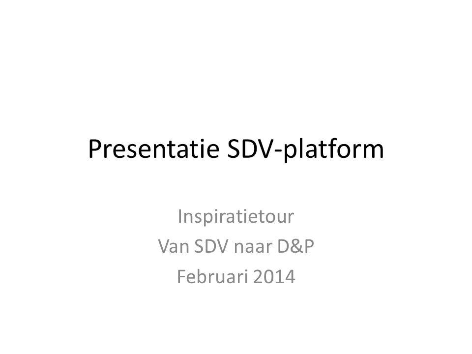 Presentatie SDV-platform