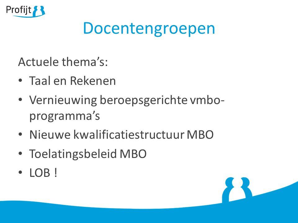 Docentengroepen Actuele thema's: Taal en Rekenen