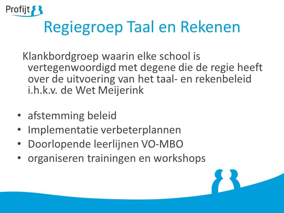 Regiegroep Taal en Rekenen