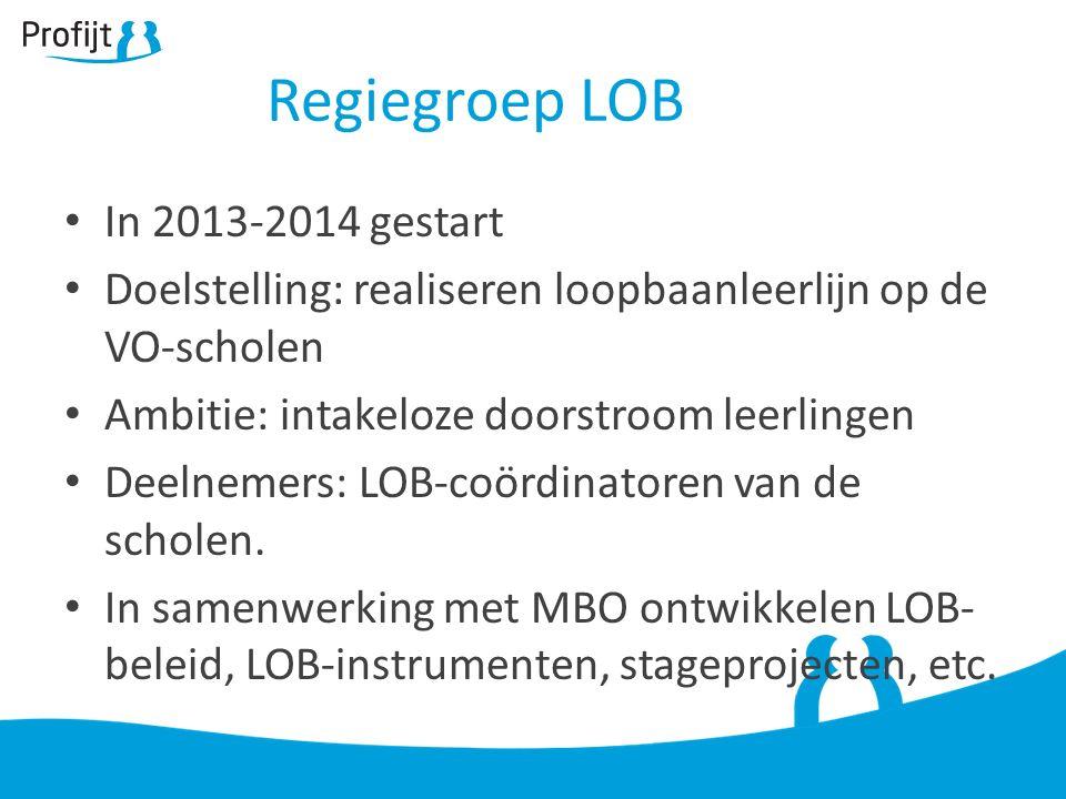 Regiegroep LOB In 2013-2014 gestart