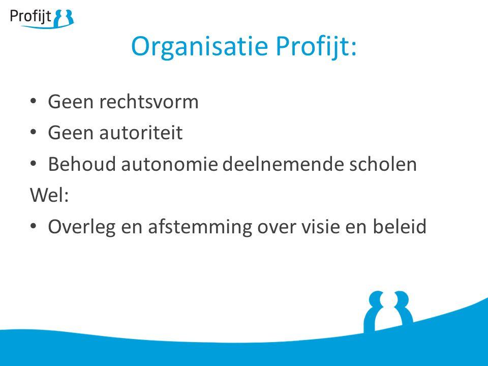 Organisatie Profijt: Geen rechtsvorm Geen autoriteit