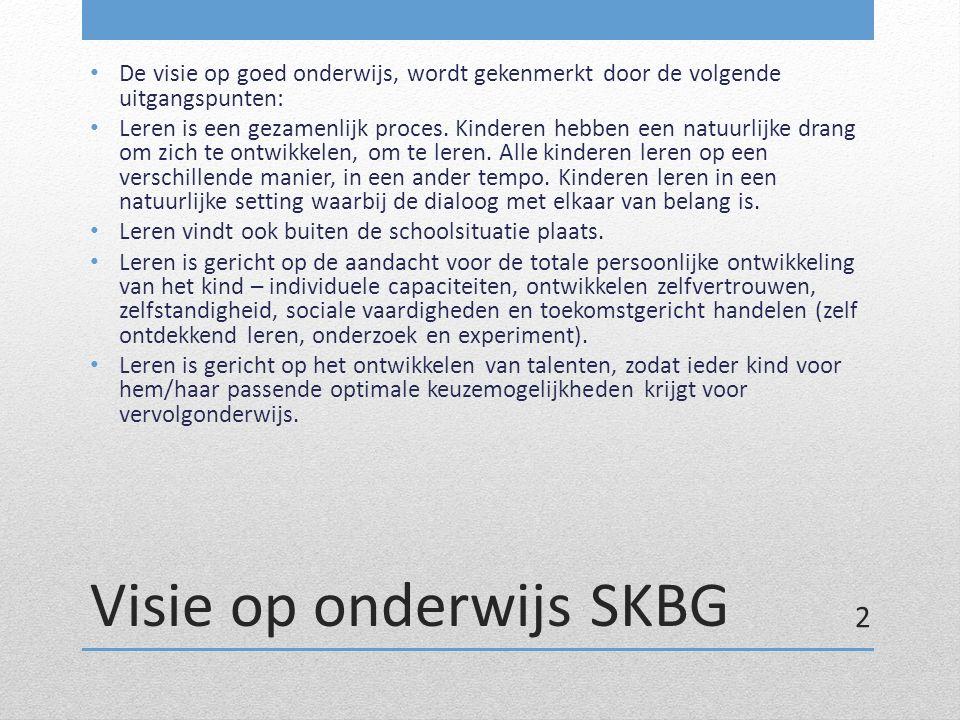 Visie op onderwijs SKBG