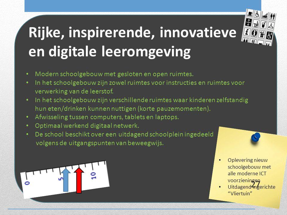 Rijke, inspirerende, innovatieve en digitale leeromgeving