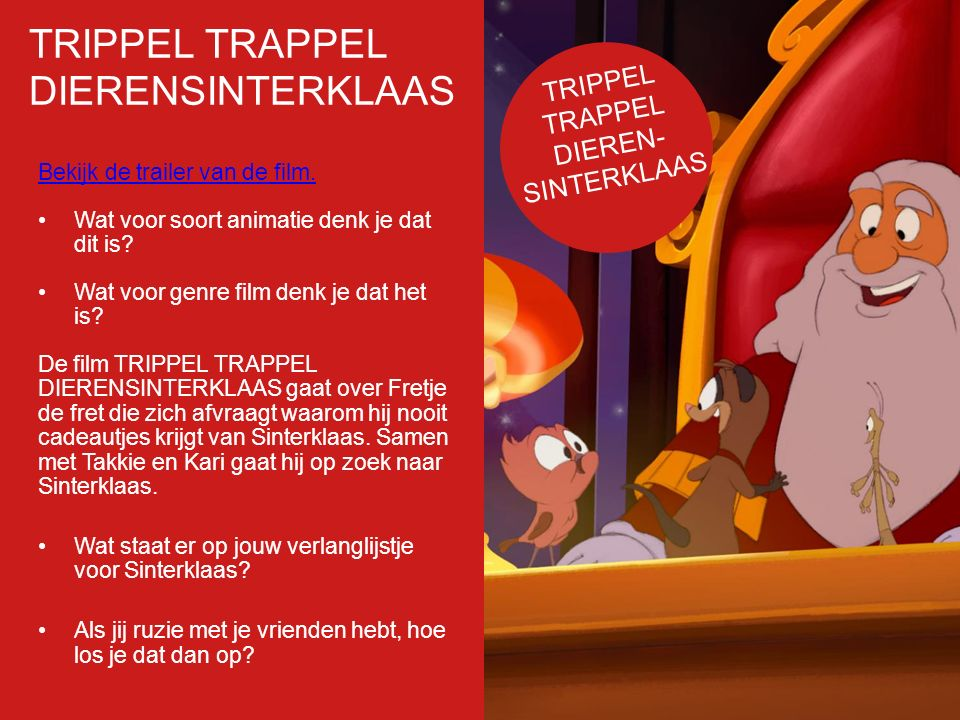 TRIPPEL TRAPPEL DIERENSINTERKLAAS Filmposter