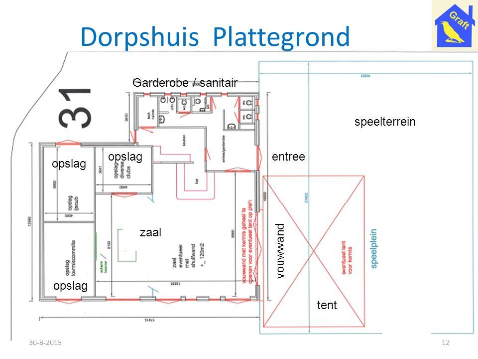 Dorpshuis Plattegrond