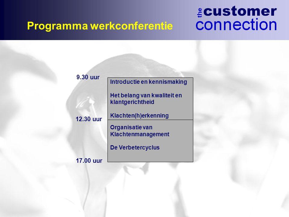 Programma werkconferentie